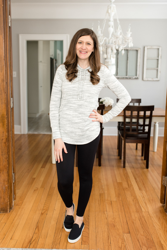 Stitch Fix Kenidy Drawstring Knit Top from Ink Love & Peace - March Stitch Fix review