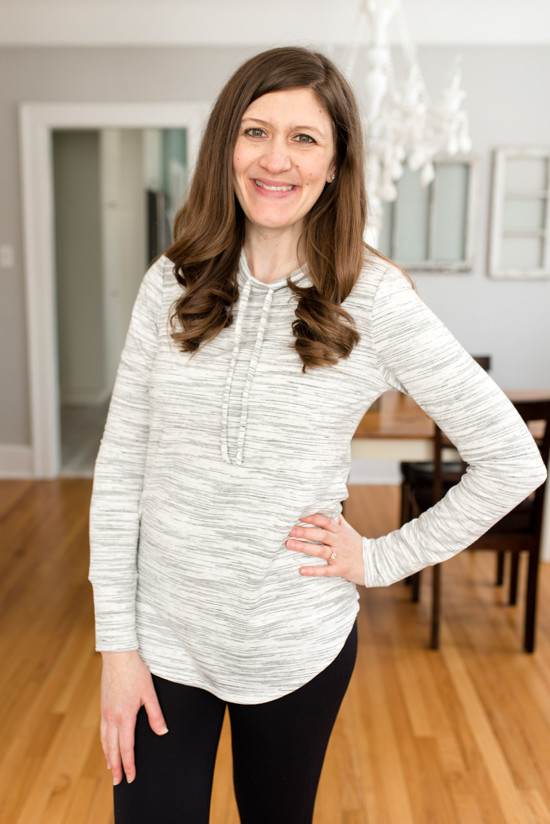 Stitch Fix Kenidy Drawstring Knit Top from Ink Love & Peace - spring Stitch Fix review