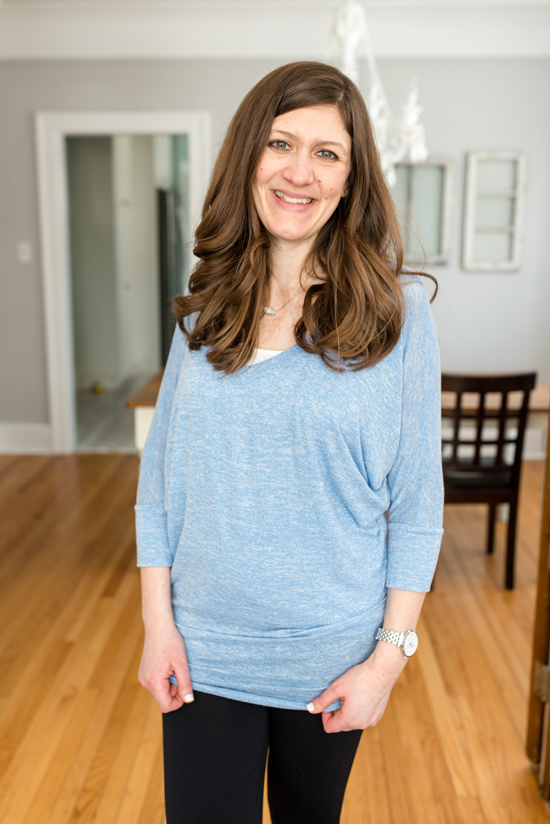 Cheaper than Stitch Fix: Fashom stying service review | Soft Intermingle V Neck 3/4 Dolman Sleeve Top from Natural Life | A comparison of Stitch Fix vs. Fashom | #stitchfix #fashion | Crazy Together blog