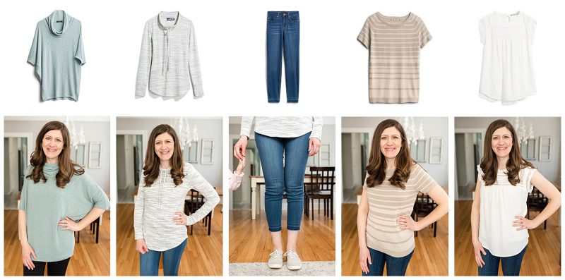 collage of items from Stitch Fix box
