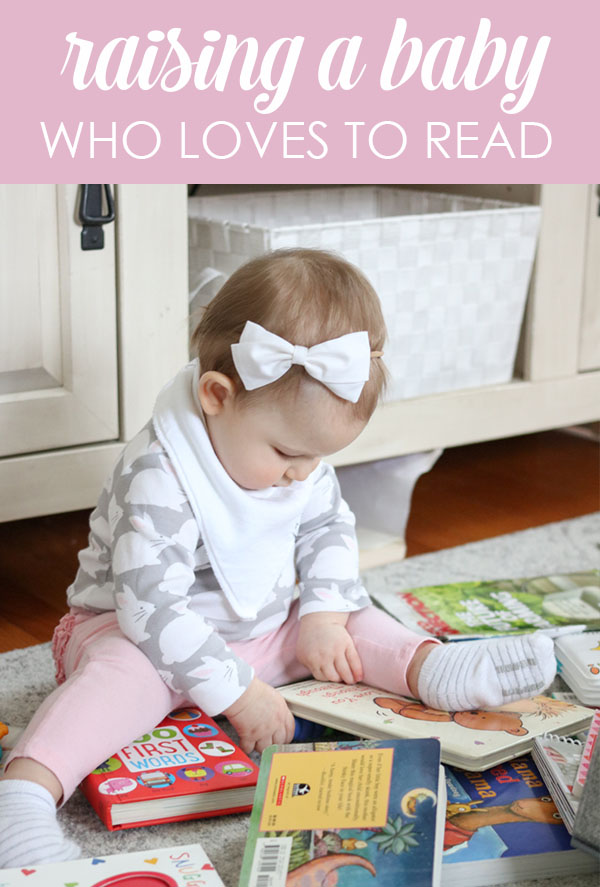 Raising a baby who loves to read - What we are doing to help our daughter love reading - why it's important to read to your baby - Crazy Together blog