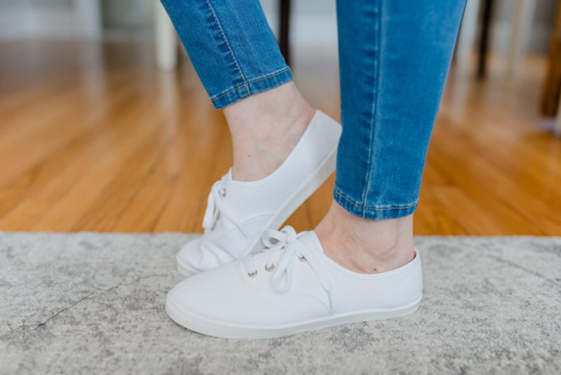 white sneakers | Crazy Together blog