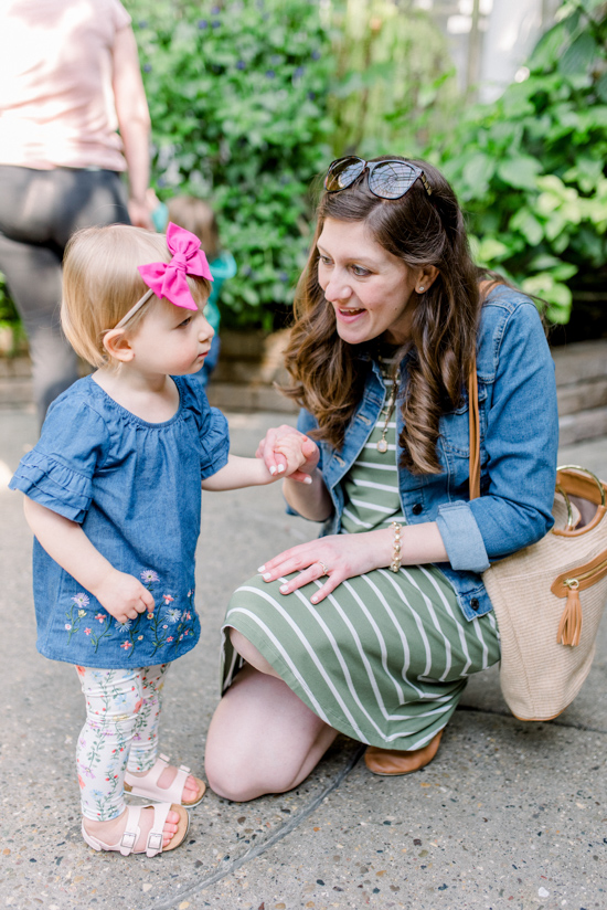 Budget friendly spring styles for mommy and me | neutral denim and chambray spring fashion | #springfashion #mommyandme | Crazy Together blog