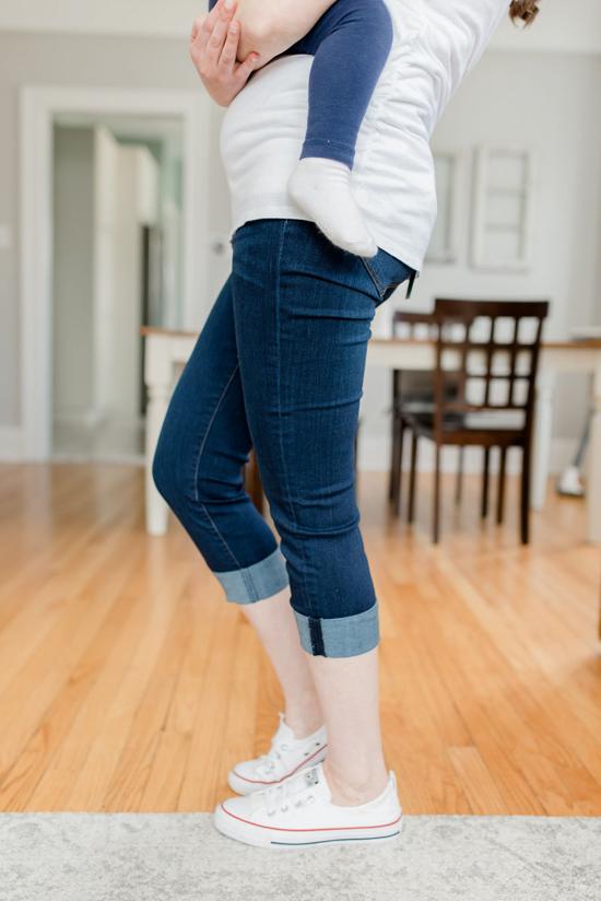 Belinda Maternity Skinny Crop Jean from Liverpool | Stitch Fix maternity review | Maternity Stitch Fix| Stitch Fix clothes #stitchfix | Crazy Together blog