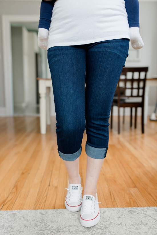 Belinda Maternity Skinny Crop Jean from Liverpool | Stitch Fix maternity review | Maternity Stitch Fix| Stitch Fix clothes #stitchfix | Crazy Together blog