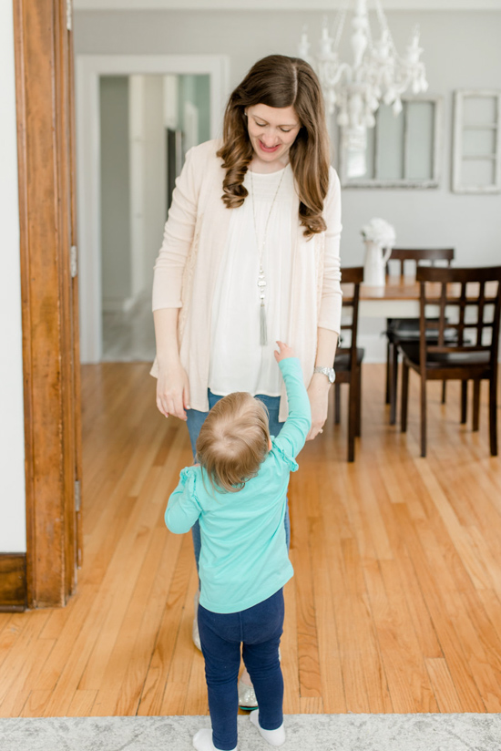 Lerra Smocking Detail Mixed Material Top from Sweet Grey | Stitch Fix maternity review | Maternity Stitch Fix| Stitch Fix clothes #stitchfix | Crazy Together blog