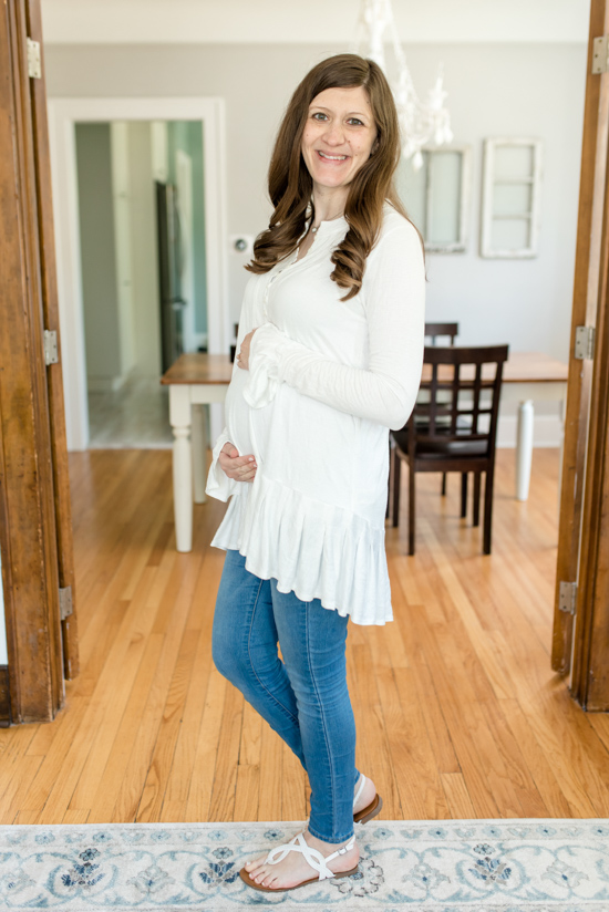 Trunk Club Maternity Review - Your Girl Tunic from Free People | style box | women's fashion | maternity clothes | #stitchfix #trunkclub | Crazy Together blog