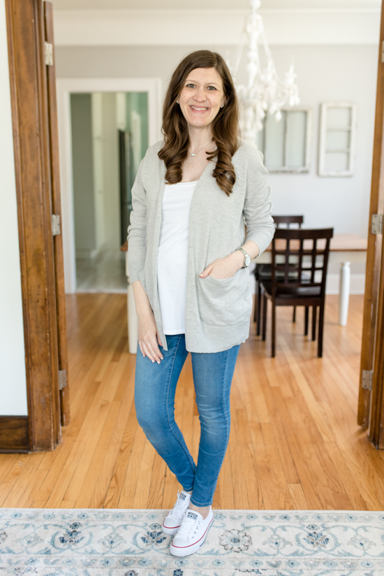 Trunk Club Maternity Review - Summer Ryder Cardigan from Madewell | style box | women's fashion | maternity clothes | #stitchfix #trunkclub | Crazy Together blog