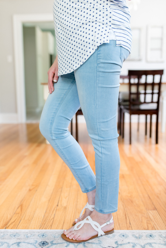Mira Maternity Skinny Jeans from Liverpool - summer Stitch Fix Maternity review