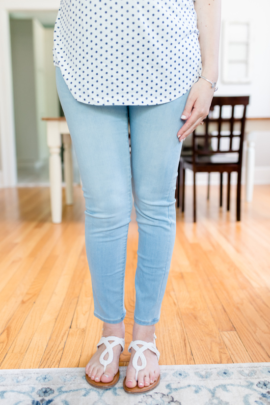 light wash Mira Maternity Skinny Jeans from Liverpool - summer Stitch Fix Maternity review