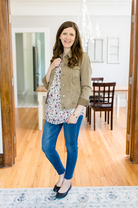 Stitch Fix Maternity Box - Summer 2019 | Lottie Pleated Maternity Blouse from Daniel Rainn Maternity and Temma Denim Jacket from Liverpool | Stitch Fix | Stitch Fix clothes | Stitch Fix maternity | pregnancy fashion | maternity clothes | Crazy Together blog