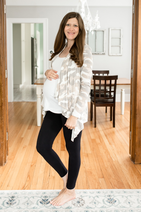 Stitch Fix Maternity Review - Wallace Brushed Cardigan from Bobeau | Stitch Fix Clothes | Maternity Clothes | Pregnancy | Crazy Together Blog