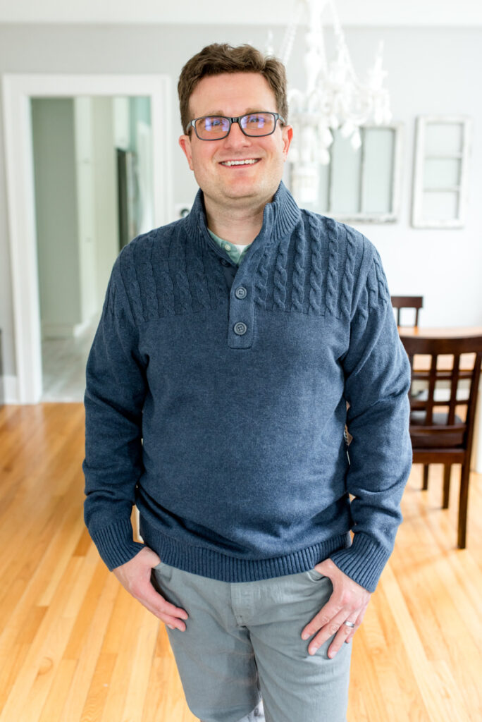 Hurlock Cable Knit Sweater by Flag & Anthem | Stitch Fix Men review | Crazy Together blog