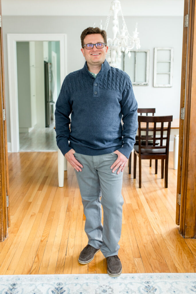 Hurlock Cable Knit Sweater by Flag & Anthem   Stitch Fix Men review   Crazy Together blog