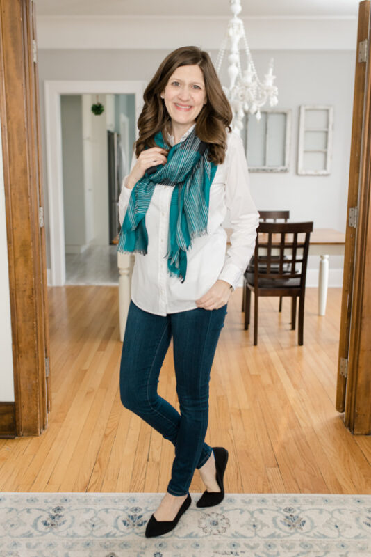 Layla Plaid Scarf from The Accessory Collective - February Stitch Fix review