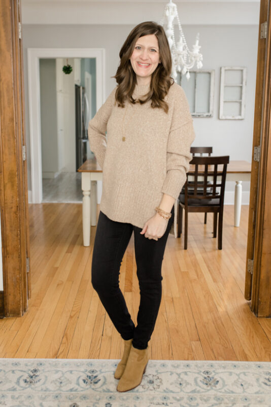 February Stitch Fix review - Autumn Tunic Pullover from Madewell | Stitch Fix clothes | style box review | Crazy Together blog #stitchfix #fashion #fashionreview