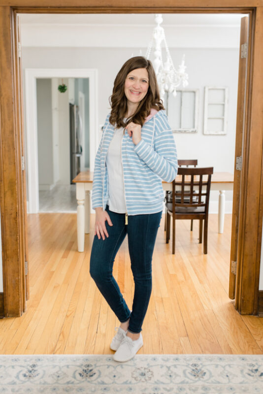 February Stitch Fix review: Narlana Zip Up Cotton Blend Hoodie from Joules | Stitch Fix clothes | style box review | Crazy Together blog #stitchfix #fashion #fashionreview