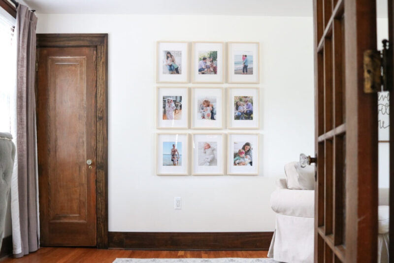 Budget-friendly gallery wall in a modern farmhouse living room