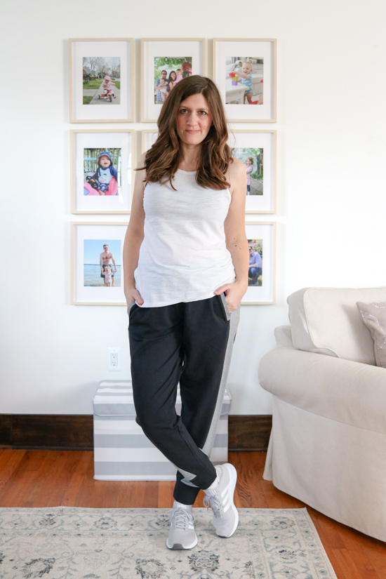 Satva Tao Jogger from Wantable Active Edit. I was shocked at how my self-confidence grew while trying on the clothes from my Wantable Active Edit. Here's my honest review of the service. The fitness clothes are great for any season: spring, summer, fall or winter.