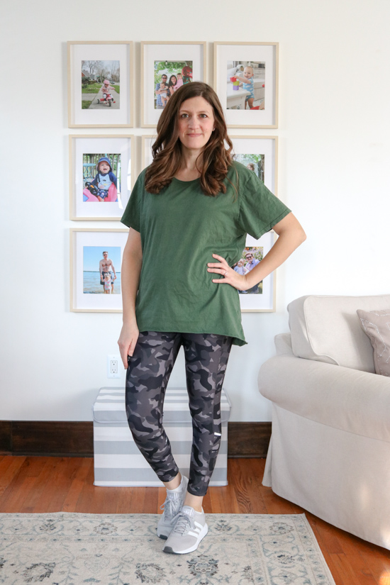 Green Boyfriend Tee with Ivy Ankle Leggings from Wantable Active Edit. I was shocked at how my self-confidence grew while trying on the clothes from my Wantable Active Edit. Here's my honest review of the service. The fitness clothes are great for any season: spring, summer, fall or winter.