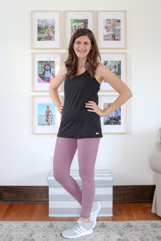Amazon Fashion Activewear Review - Amazon Essentials Women's 2-Pack Tech Stretch Racerback Tank Top ($19) and $20 leggings