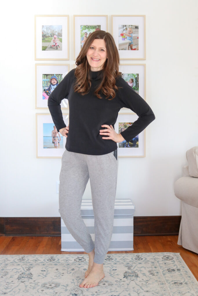 Wantable Style Edit Review featuring black Nora Top and Monica jogger pants - Crazy Together blog
