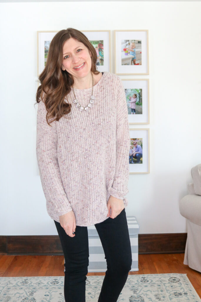 Wantable Style Edit review and try-on featuring a gorgeous Niles Pullover Sweater.