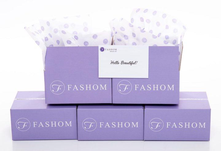 branded purple Fashom subscription fashion boxes